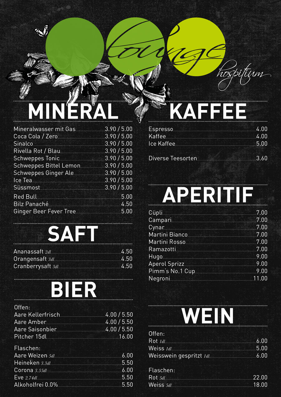 GETRÄNKE | Hospitium Lounge